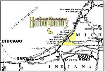 Lakeside Michigan Map.Where We Are Located The Beach House At Lakeside Mi
